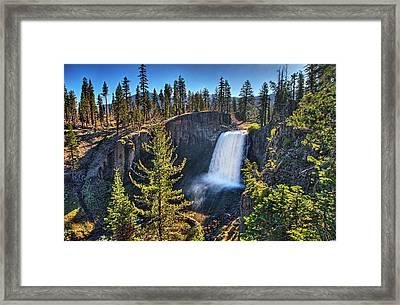 Rainbow Falls In John Muir Wilderness Framed Print by Nathaniel Grant