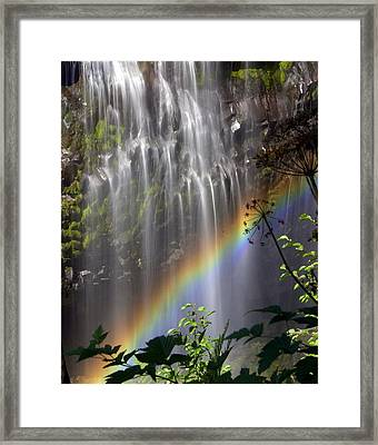 Rainbow Falls Framed Print by Marty Koch