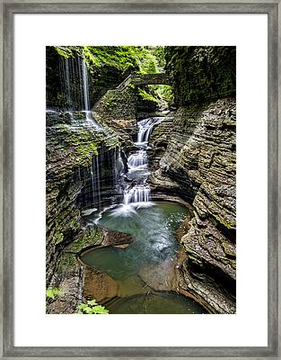 Rainbow Falls - Watkins Glen Framed Print by Stephen Stookey