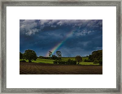 Rainbow Fields Framed Print