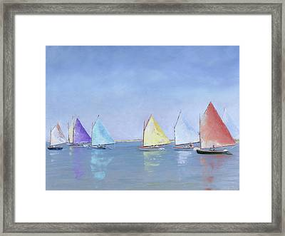Rainbow Fleet Framed Print