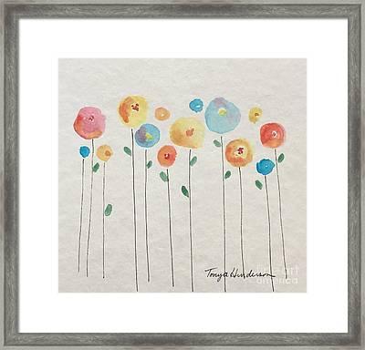 Rainbow Floral Framed Print