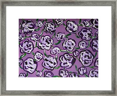 Rainbow Flowers Violet Framed Print by Gioia Albano