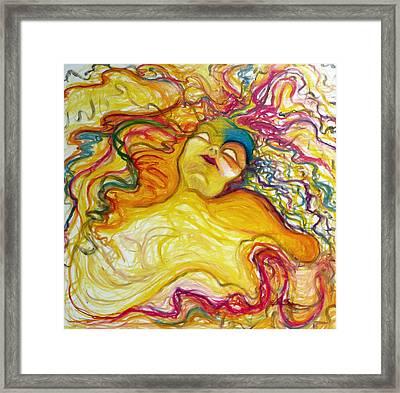 Rainbow Goddess Framed Print by Erika Brown
