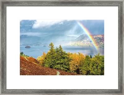 Rainbow Gold Framed Print