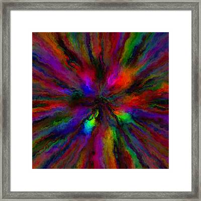 Rainbow Grunge Abstract Framed Print