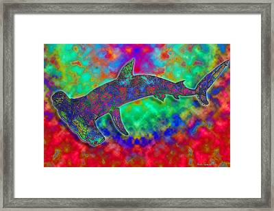 Rainbow Hammerhead Shark Framed Print