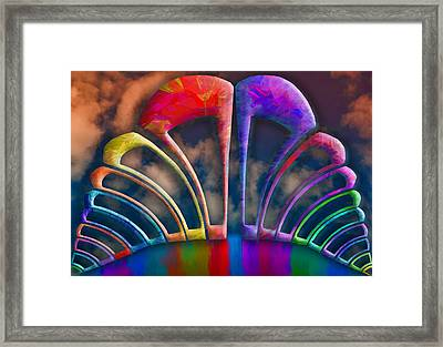 Rainbow Hill Framed Print