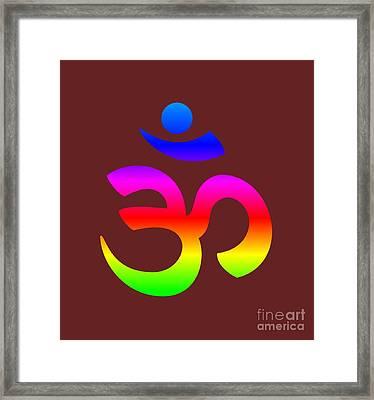 Rainbow Hinduism Symbol Framed Print