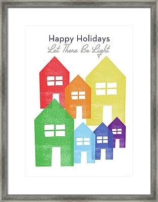 Rainbow Holiday- Art By Linda Woods Framed Print