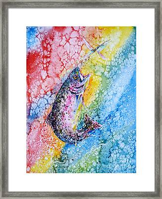 Rainbow Hunter Framed Print by Zaira Dzhaubaeva