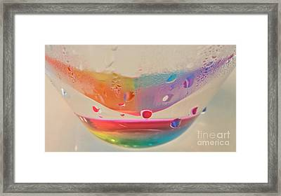 Rainbow In A Glass Framed Print