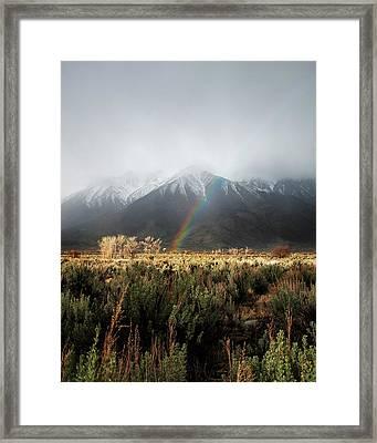 Rainbow In Eastern Sierra Nevadas Framed Print