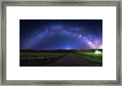 Rainbow In The Night Framed Print