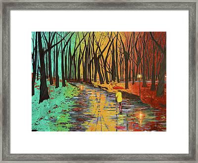Rainbow In The Park Framed Print by Ken Figurski