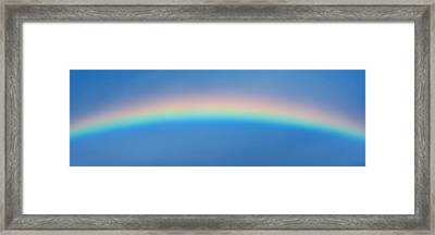 Rainbow In The Sky Framed Print by Panoramic Images