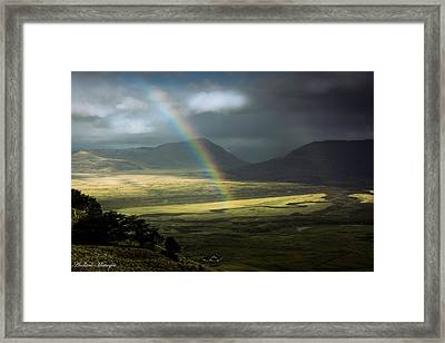 Rainbow In The Valley Framed Print by Andrew Matwijec