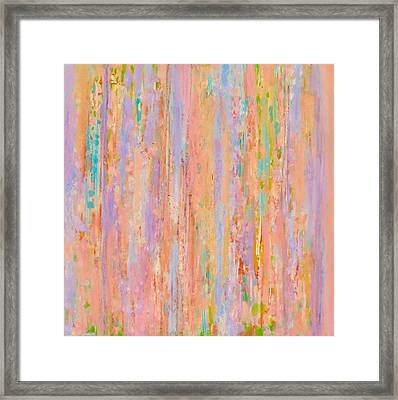 Framed Print featuring the painting Spring Fusion by Irene Hurdle