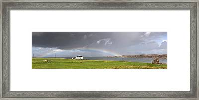 Framed Print featuring the photograph Rainbow, Island Of Iona, Scotland by John Short