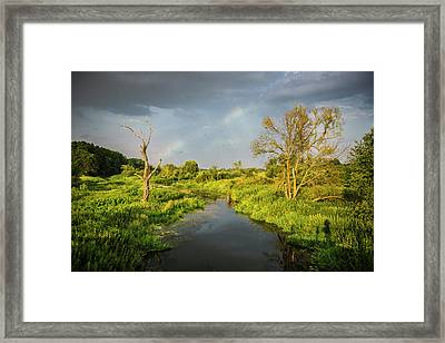 Framed Print featuring the photograph Rainbow by Jaroslaw Grudzinski