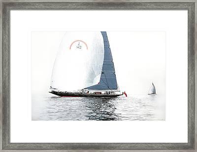 Rainbow Jh2 J-class Racing Yacht Framed Print