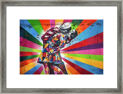 Rainbow Kiss Framed Print by Az Jackson