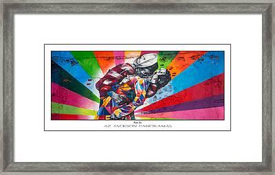 Rainbow Kiss Poster Print Framed Print by Az Jackson