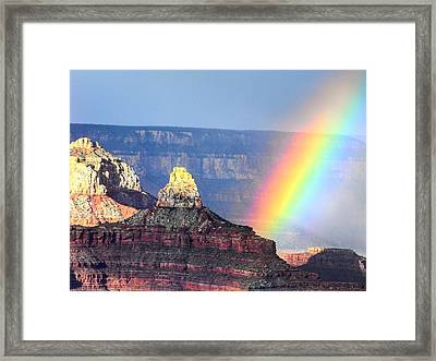 Rainbow Kisses The Grand Canyon Framed Print