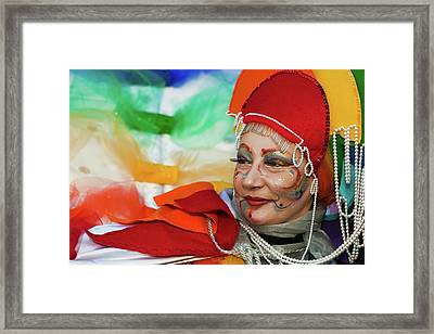 Rainbow Lady Framed Print