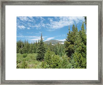Rainbow Lakes Campsite Framed Print