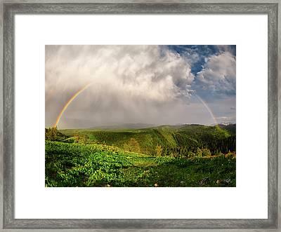 Rainbow Light And Form Framed Print by Leland D Howard