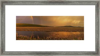 Rainbow Light Framed Print by Leland D Howard