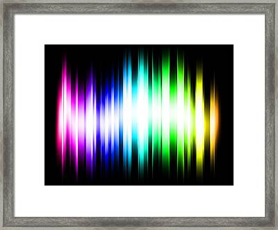 Rainbow Light Rays Framed Print by Michael Tompsett