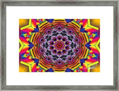 Rainbow Lightning Framed Print by Bobby Hammerstone