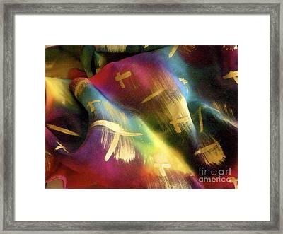 Rainbow Lights Framed Print by Joanna White