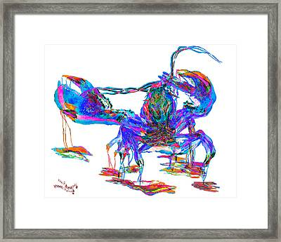 Rainbow Lobster On Acid Framed Print