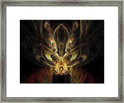 Framed Print featuring the digital art Rainbow Locust by R Thomas Brass
