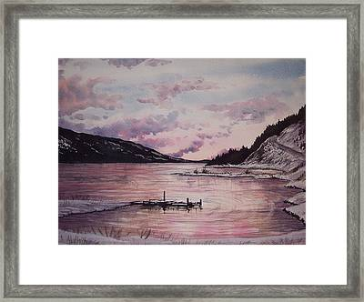 Rainbow Lodge Bay Framed Print