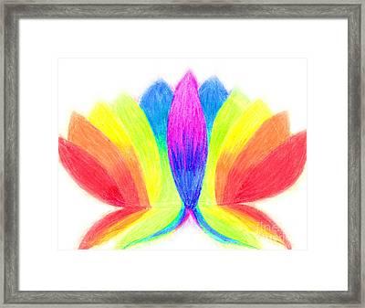 Rainbow Lotus Framed Print by Chandelle Hazen