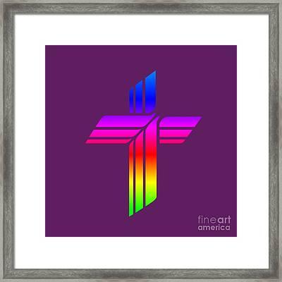 Rainbow Lutheran Church Missouri Synod Symbol Framed Print