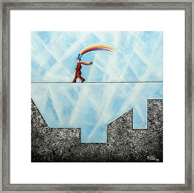 Rainbow Man Framed Print by Graciela Bello
