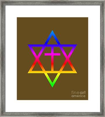 Rainbow Messianic Judaism Symbol Framed Print