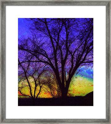 Rainbow Morning Framed Print by Julie Lueders