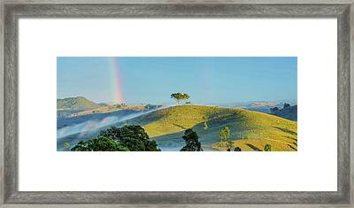 Rainbow Mountain Framed Print by Az Jackson