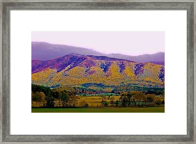 Rainbow Mountain Framed Print by DigiArt Diaries by Vicky B Fuller