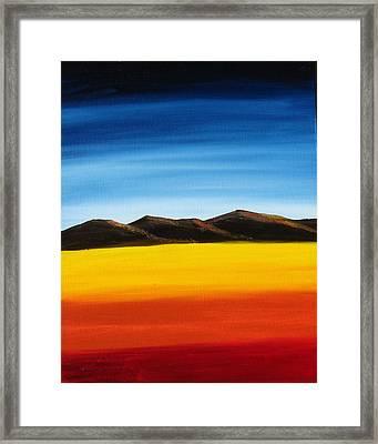 Rainbow Mountains Framed Print by Liz Vernand