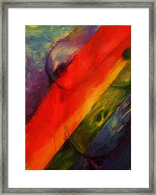Rainbow Nude Framed Print by Shelley Bain