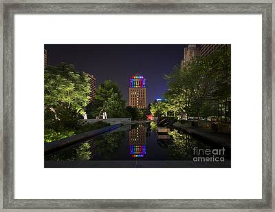 Rainbow Lights Framed Print
