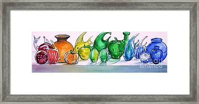 Rainbow Of Glass Framed Print