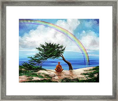 Rainbow Of Hope Framed Print by Laura Iverson